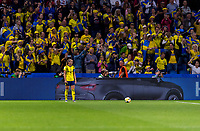LE HAVRE,  - JUNE 20: Kosovare Asllani #9 stands ready for a free kick during a game between Sweden and USWNT at Stade Oceane on June 20, 2019 in Le Havre, France.