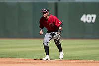Arizona Diamondbacks second baseman Jose Caballero (13) during an Instructional League game against the Kansas City Royals at Chase Field on October 14, 2017 in Phoenix, Arizona. (Zachary Lucy/Four Seam Images)