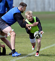 Tuesday 3rd May; David Shanahan<br /> Ulster Rugby Training at Perrie Park, Belfast, Northern Ireland. Photo by John Dickson/Dicksondigital