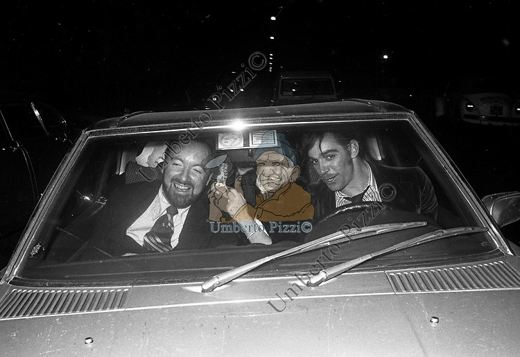 FABIO TESTI,  LIZA MINELLI E JACK HALEY<br /> FESTA PER LIZA MINELLI  AL JACKIE O' ROMA 1975