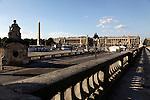 Concorde Square Place de la Concorde with Obelisk in the background. Paris. France