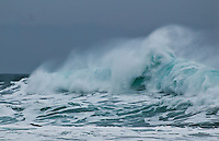 powerful spindrift waves at cannon beach oregon during a winter storm