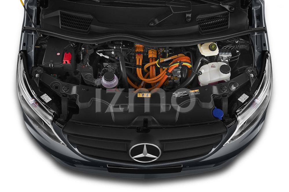 Car Stock 2021 Mercedes Benz Vito-Tourer - 5 Door Passenger Van Engine  high angle detail view