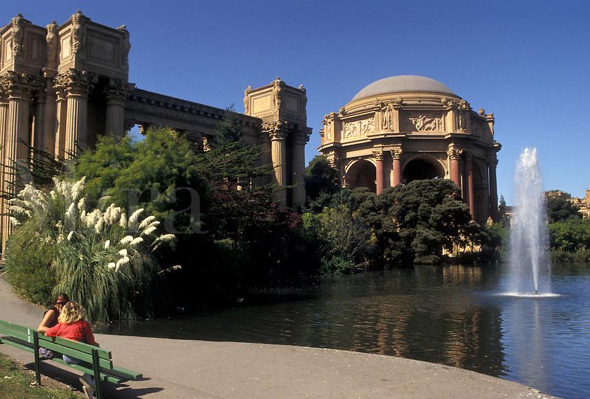 AJ3772, San Francisco, California, Bay Area, Palace of Fine Arts housing the Exploratorium in San Francisco in the state of California.