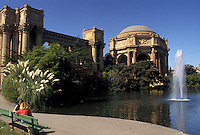 AJ3772, San Francisco, California, Bay Area, Palace of Fine Arts housing the Exploratorium in San Francisco in the state of California.