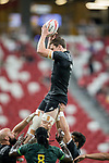 Sam Dickson of New Zealand catches the ball during the match South Africa vs New Zealand, Day 2 of the HSBC Singapore Rugby Sevens as part of the World Rugby HSBC World Rugby Sevens Series 2016-17 at the National Stadium on 16 April 2017 in Singapore. Photo by Victor Fraile / Power Sport Images