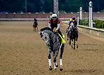 August 30, 2020: Rushie exercises as horses prepare for the 2020 Kentucky Derby and Kentucky Oaks at Churchill Downs in Louisville, Kentucky. The race is being run without fans due to the coronavirus pandemic that has gripped the world and nation for much of the year. John Voorhees/Eclipse Sportswire/CSM