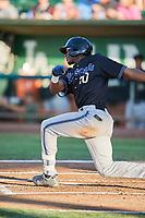 Jesus Marriaga (20) of the Missoula Osprey bats against the Ogden Raptors at Lindquist Field on July 12, 2018 in Ogden, Utah. Missoula defeated Ogden 11-4. (Stephen Smith/Four Seam Images)