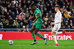 Fede Valverde of Real Madrid and Alexander Isak of Real Sociedad during La Liga match between Real Madrid and Real Sociedad at Santiago Bernabeu Stadium in Madrid, Spain. February 06, 2020. (ALTERPHOTOS/A. Perez Meca)