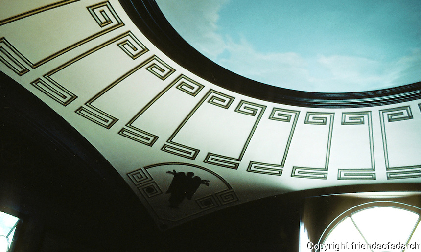 Sir John Soane: Pitshanger Manor, London. Ceiling of The Breakfast Room, 1800-1810. Photo '87.
