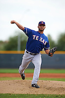 Texas Rangers pitcher Edgar Arredondo (37) during an instructional league game against the Seattle Mariners on October 5, 2015 at the Surprise Stadium Training Complex in Surprise, Arizona.  (Mike Janes/Four Seam Images)