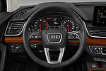 Car pictures of steering wheel view of a 2021 Audi Q5 Premium 5 Door SUV Steering Wheel
