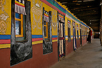 The colors of the Tibetan Monestries and Temples in Tibet