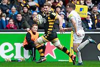 Photo: Ian Smith/Richard Lane Photography. Wasps v Bath Rugby. Aviva Premiership. 24/12/2016. Wasps' Thomas Young breaks clear.