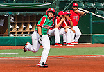 ABERDEEN, MD - AUGUST 01: Victor Sanchez #13 of Mexico runs to second base after an error by Canada on his three run RBI single against Canada in a game between Mexico and Canada during the Cal Ripken World Series at The Ripken Experience Powered by Under Armour on August 1, 2016 in Aberdeen, Maryland. (Photo by Ripken Baseball/Eclipse Sportswire/Getty Images)