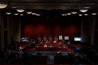 """The United States House Judiciary committee hearing on """"Oversight of the Department of Justice: Political Interference and Threats to Prosecutorial Independence"""" on Capitol Hill in Washington DC on June 24th, 2020.<br /> Credit: Anna Moneymaker / Pool via CNP/AdMedia"""