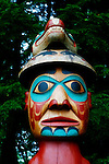 Alaskan Native American totem poles are used to tell stories and convey clan heritage.
