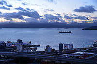 Wellington harbour during Level 4 lockdown for the COVID-19 pandemic in Wellington, New Zealand on Thursday, 19 August 2021.