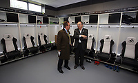 Pictured: Guests in the first team changing room Tuesday 04 April 2017<br />Re: Official opening of the Fairwood Training Complex of Swansea City FC, Wales, UK