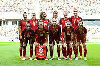 Gothenburg, Sweden - Thursday June 08, 2017: United States Starting Eleven during an international friendly match between the women's national teams of Sweden (SWE) and the United States (USA) at Gamla Ullevi Stadium.
