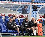 25.07.2020 Rangers v Coventry City: Steven Gerrard and his backroom team