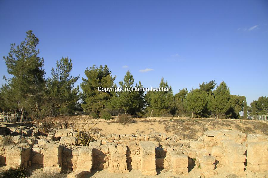 Israel, the Archaeological site in Kibbutz Ramat Rachel