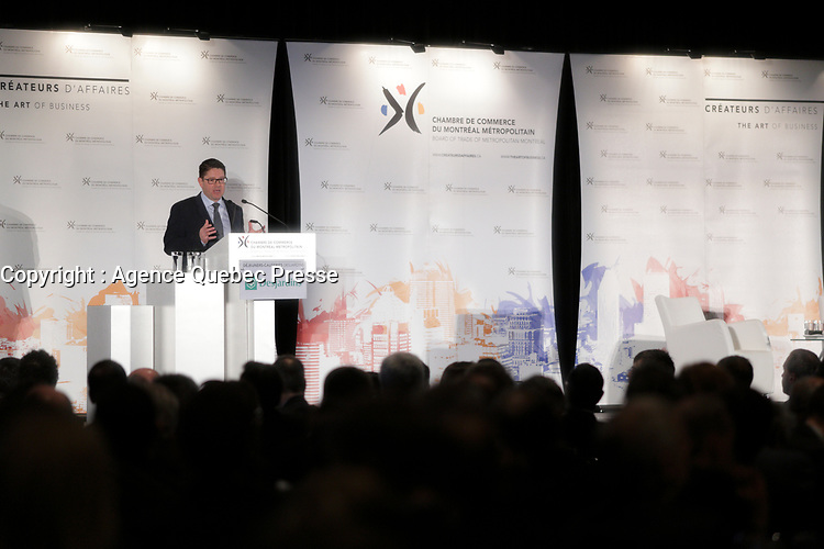 Hydro-Quebec president and CEO Eric Martel present the government corporation's challenges and priorities for customer service, communication, productivity and growth,Thursday, February 4, 2016<br /> <br /> <br />  This is  Mr. Martel's first speech in Montreal since taking on his role.<br /> <br /> Photo : Pierre Roussel - Agence Quebec Presse<br /> <br /> <br /> <br /> <br /> <br /> <br /> <br /> <br /> <br /> <br /> <br /> .