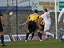 Ayr Utd's Kevin Kyle scores their third goal.
