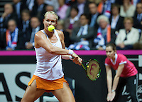 Arena Loire,  Trélazé,  France, 16 April, 2016, Semifinal FedCup, France-Netherlands, First match: Kiki Bertens<br /> Photo: Henk Koster/Tennisimages