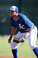 Kansas City Royals outfielder Brandon Dulin (31) during an Instructional League game against the Cincinnati Reds on October 16, 2014 at Goodyear Training Facility in Goodyear, Arizona.  (Mike Janes/Four Seam Images)