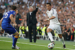 Real Madrid´s Cristiano Ronaldo during the Champions League semi final soccer match between Real Madrid and Juventus at Santiago Bernabeu stadium in Madrid, Spain. May 13, 2015. (ALTERPHOTOS/Victor Blanco)