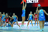 Mystics' Tayla Earle defends during the ANZ Premiership netball final between Northern Mystics and Mainland Tactix at Spark Arena in Auckland, New Zealand on Sunday, 8 August 2021. Photo: Dave Lintott / lintottphoto.co.nz
