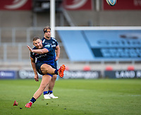 21st August 2020; AJ Bell Stadium, Salford, Lancashire, England; English Premiership Rugby, Sale Sharks versus Exeter Chiefs;  Rob du Preez of Sale Sharks kicks a sercond half penalty to make it 17-10 to Sale