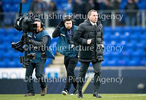 St Johnstone v Celtic…05.02.17     SPFL    McDiarmid Park<br />Celtic Manager Brendan Rodgers<br />Picture by Graeme Hart.<br />Copyright Perthshire Picture Agency<br />Tel: 01738 623350  Mobile: 07990 594431