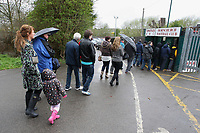 A large queue for the top of the table match - AFC Hornchurch vs Billericay Town - Ryman League Premier Division Football at The Stadium, Upminster Bridge, Essex - 09/04/12 - MANDATORY CREDIT: Gavin Ellis/TGSPHOTO - Self billing applies where appropriate - 0845 094 6026 - contact@tgsphoto.co.uk - NO UNPAID USE