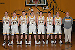 November 10, 2014- Tuscola, IL- The Tuscola Warrior Boys Junior Varsity Basketball team. From left are Josiah Lemay, Dylan Pugh, Jacob Craddock, Jaret Heath, Zach McCallister, Tyler Meinhold, Dakota Denny, and manager Brodey Kramer. (Not pictured: Raymond Kerkhoff, Dalton Hoel, and Kaleb Williams) [Photo: Douglas Cottle]