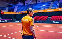 Den Bosch, The Netherlands, Februari 07 2019,  Maaspoort , FedCup  Netherlands - Canada,Training , captain Paul Haarhuis.<br /> Photo: Tennisimages/Henk Koster