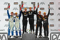 IMSA Continental Tire SportsCar Challenge<br /> Road America 120<br /> Road America, Elkhart Lake, WI USA<br /> Saturday 5 August 2017<br /> 27, Mazda, Mazda MX-5, ST, Britt Casey Jr, Tom Long, 25, Mazda, Mazda MX-5, ST, Chad McCumbee, Stevan McAleer, 56, Porsche, Porsche Cayman, ST, Jeff Mosing, Eric Foss, podium<br /> World Copyright: Michael L. Levitt<br /> LAT Images