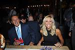 GIANFRANCO FINI CON ELISABETTA TULLIANI<br /> FESTA RIUNIFICAZIONE  A VILLA ALMONE RESIDENZA AMBASCIATORE TEDESCO -  ROMA  OTTOBRE 2008