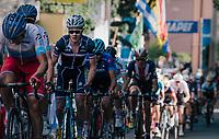 face mask<br /> <br /> MEN UNDER 23 ROAD RACE<br /> Kufstein to Innsbruck: 180 km<br /> <br /> UCI 2018 Road World Championships<br /> Innsbruck - Tirol / Austria