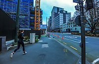 Victoria St at 8.30am during Level 4 lockdown for the COVID-19 pandemic in Wellington, New Zealand on Monday, 23 August 2021.