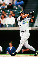 Jose Conseco of the Tampa Bay Devil Rays during a game against the Anaheim Angels at Angel Stadium circa 1999 in Anaheim, California. (Larry Goren/Four Seam Images)