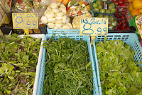 Fruit & Vegetable Stall -Rocket & Salad ; Market - Chioggia - Venice Italy