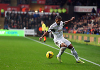 Wednesday, 01 January 2014<br /> Pictured: Wayne Routledge of Swansea<br /> Re: Barclay's Premier League, Swansea City FC v Manchester City at the Liberty Stadium, south Wales.