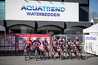 Team Lotto-Soudal presentation in front of a closed  waterbed store (in these pandemic infested times)<br /> <br /> 73rd Kuurne - Brussels - Kuurne 2021<br /> ME (1.Pro)<br /> 1 day race from Kuurne to Kuurne (BEL/197km)<br /> <br /> ©kramon