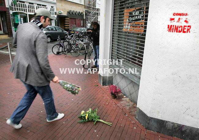 Nijmegen, 161105<br />Plek waar Louis Seveke gisterenavond is vermoord,<br />Foto: Sjef Prins - APA Foto