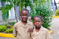 Jamaica Tourism. Boys at school.