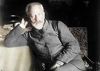 Русский композитор Петр Ильич Чайковский в последний год своей жизни, 1893 год. / Russian composer Pyotr Ilyich Tchaikovsky in the last year of his life, 1893.