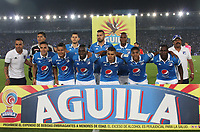 BOGOTA -COLOMBIA, 7-04-2017. Team of Milonarios.Action game between  Millonarios  and Atletico Nacional during match for the date 12 of the Aguila League I 2017 played at Nemesio Camacho El Campin stadium . Photo:VizzorImage / Felipe Caicedo  / Staff