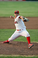 June 27th, 2007:  Thomas Eager of the Batavia Muckdogs, Short-Season Class-A affiliate of the St. Louis Cardinals at Dwyer Stadium in Batavia, NY.  Photo by:  Mike Janes/Four Seam Images